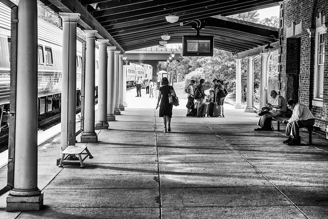 As She Walked Through The Train Station