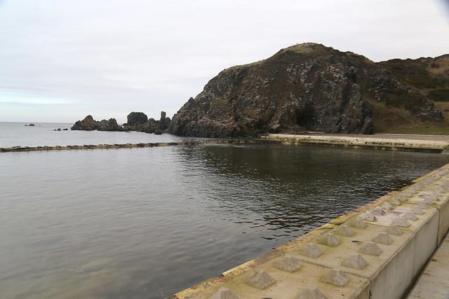 Derelict swimming pool at Tarlair, Macduff