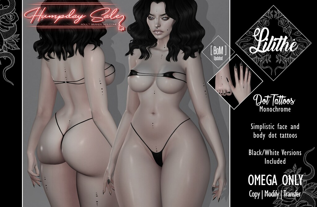 Lilithe'// Dot Tattoos – Monochrome – Humpday Sale