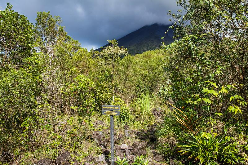 Mirador del Volcán en el Sendero de las Coladas del Volcán Arenal