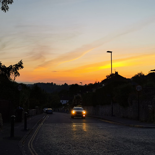 bath england sunset evening may covid19 cars light city road square squareformat