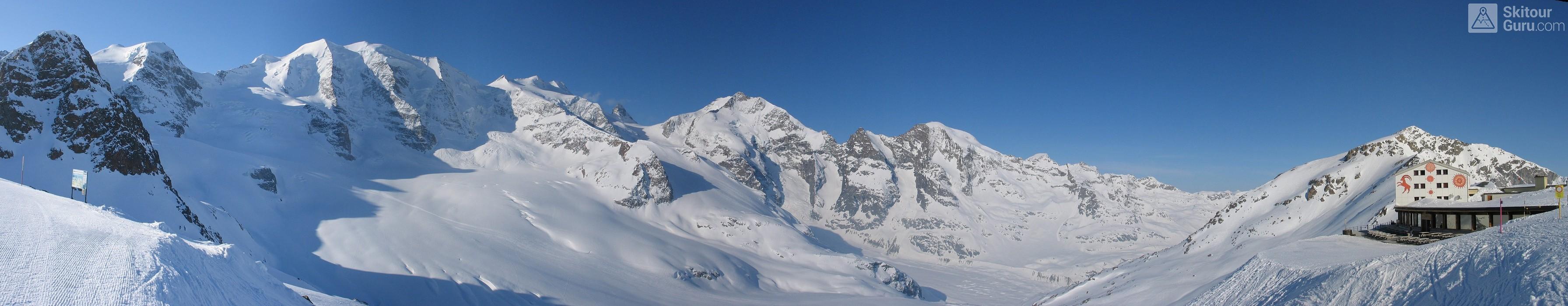 Diavolezza Berghaus Bernina Switzerland panorama 32
