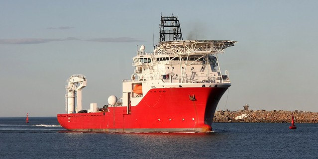 OFFSHORE SUPPLY VESSEL 'PRIDE' ENTERING NEWCASTLE HARBOUR 8th May 2020