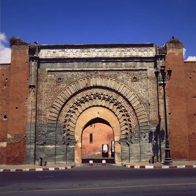 Bab Agnoua Gate of Marrakech, Morocco
