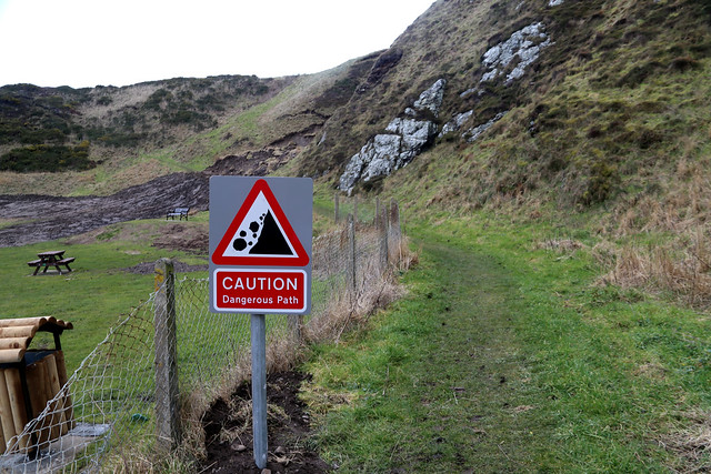 Dangerous path, Tarlair, Macduff
