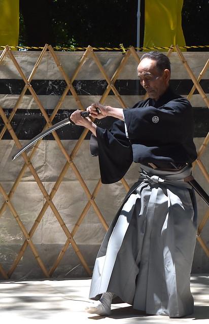 Venerable Samurai Swordsman in his Eighties