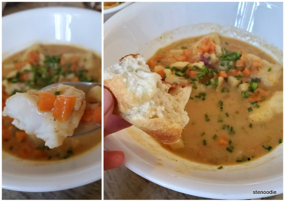 New England Fish Chowder with toastie