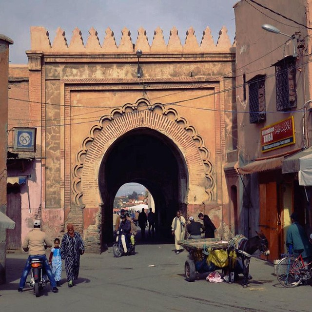 Bab El Khemis Gate of Marrakech, Morocco