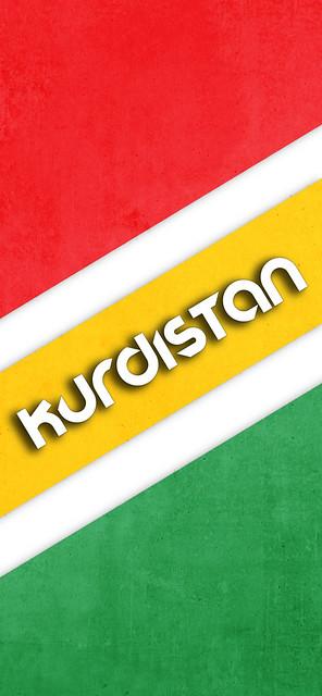 Kurdistan Flag Wallpaper for Smart Phones