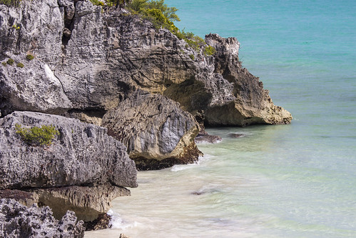 View of Tulum Beach and the Caribbean, Tulum, Mexico