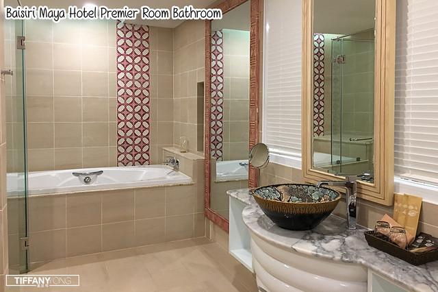 Baisirimaya Hotel Premier Room Bathroom Review