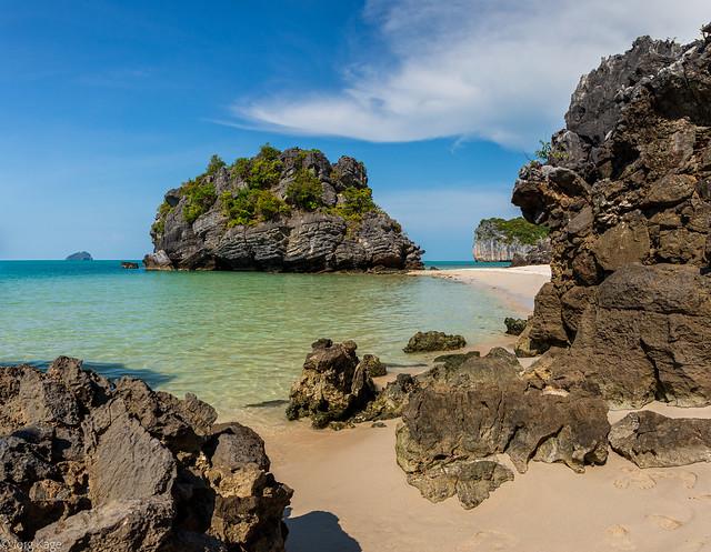 auf einer einsamen Insel