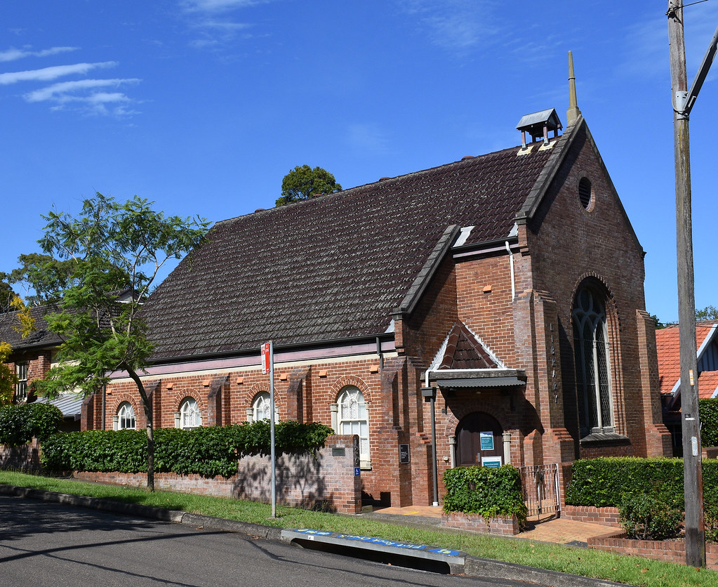 Library, former Uniting Church, Artarmon, Sydney, NSW.