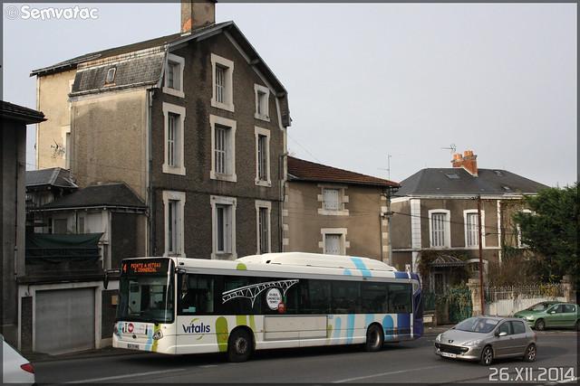 Heuliez Bus GX 327 GNV – RTP (Régie des Transports Poitevins) / Vitalis n°607
