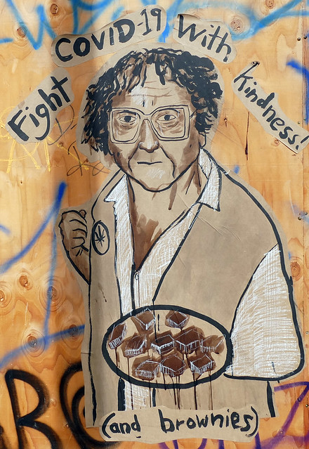 corona times: went out of the house for exercise, and well, of course, i took my camera; brownie mary streetart  5-20*