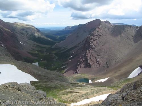 Views down the Boulder Creek Valley, Glacier National Park, Montana
