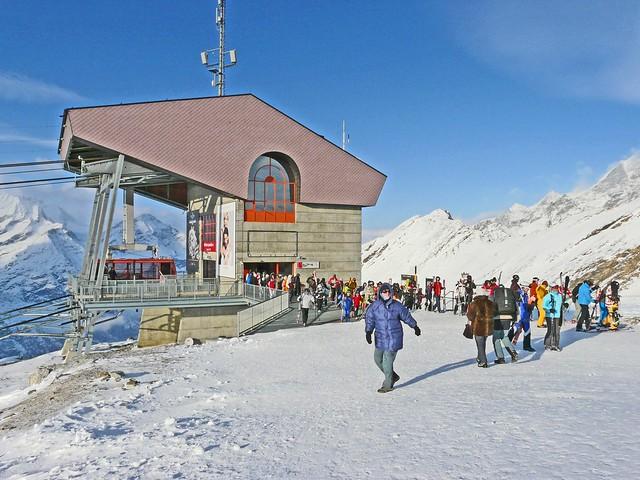 Suisse, à Zermatt, la Station d'arrivé du Rothorn VS à 3100m