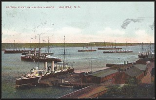 c. 1908 Montreal Import Company (No. 905) Postcard - View of the British Fleet in Halifax Harbour, Halifax, Nova Scotia