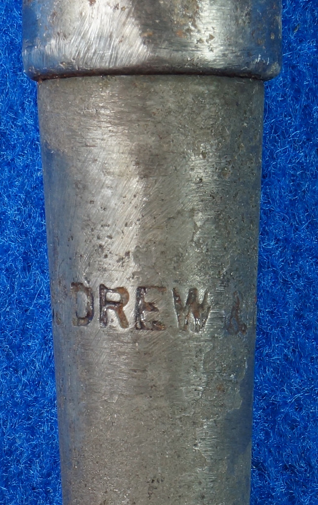 RD22078 Antique C. Drew Co. Sailmaking Fid Nautical Tool Rope DSC04977
