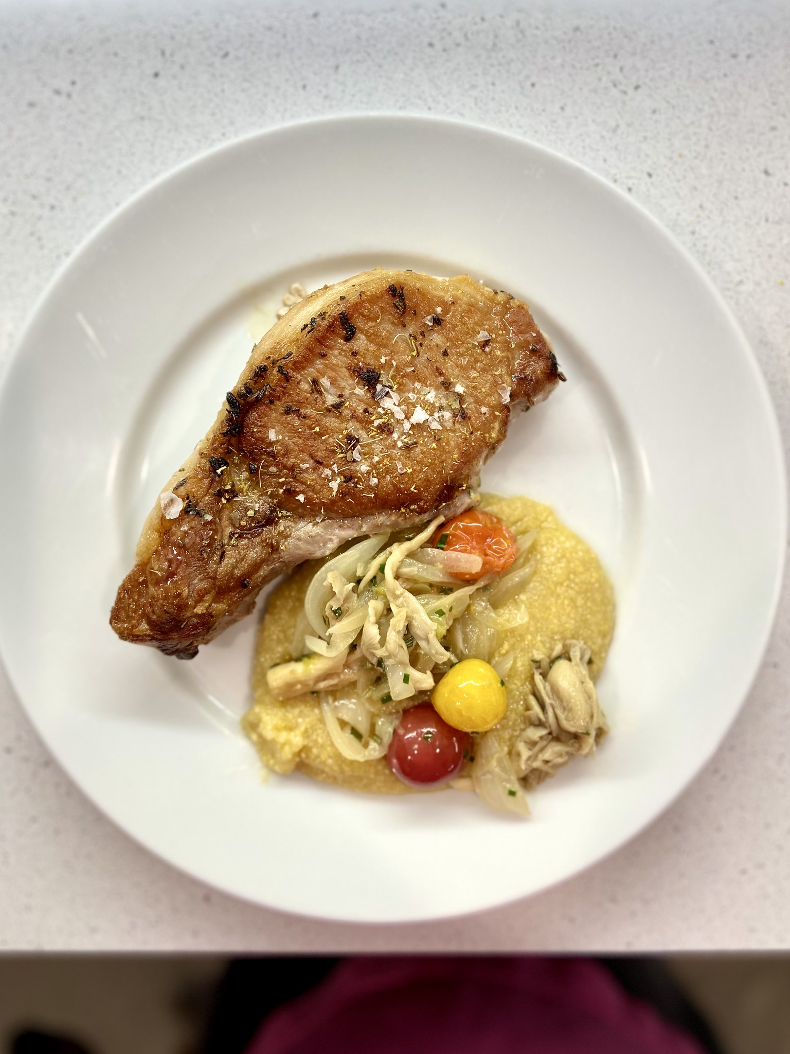 pork chops and polenta