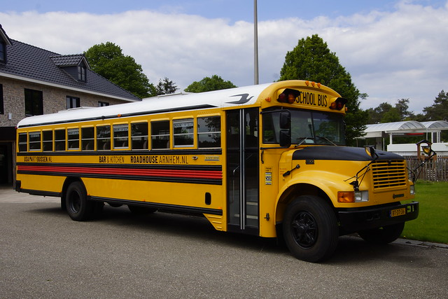The bus chassis variant of the International S series 3800 T 444E Schoolbus Roadhouse Arnhem 17-05-2020