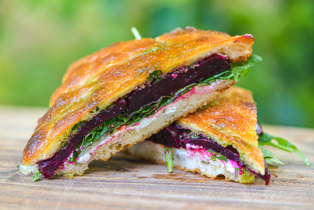 Grilled-Roasted Beet Sandwiches