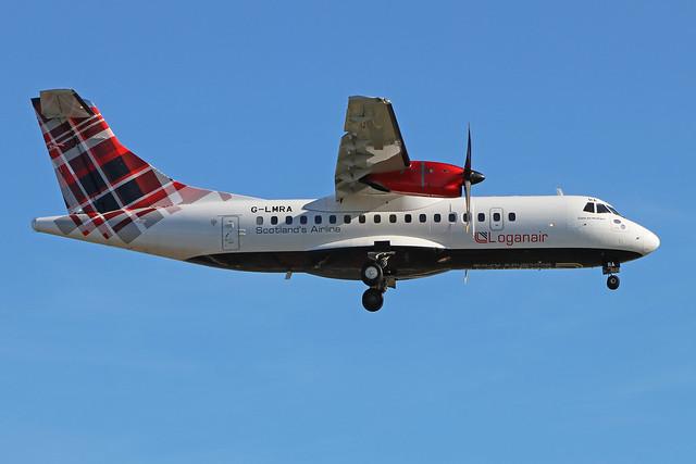 G-LMRA  -  ATR42-500  -  Loganair  -  LHR/EGLL 20-5-20