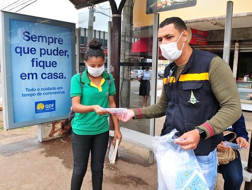 Comitê Covid-19 distribui 3 mil máscaras protetivas em Taguatinga