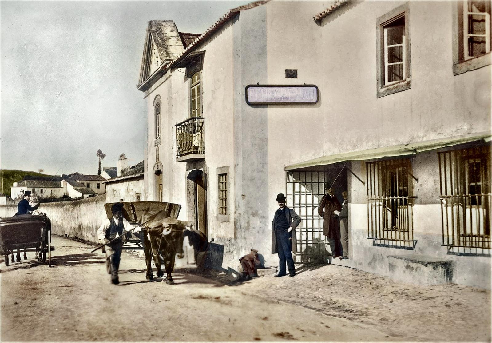Retiro da Perna de Pau ao Areeiro, na antiga Estrada de Sacavém (E. Portugal, c. 1900)