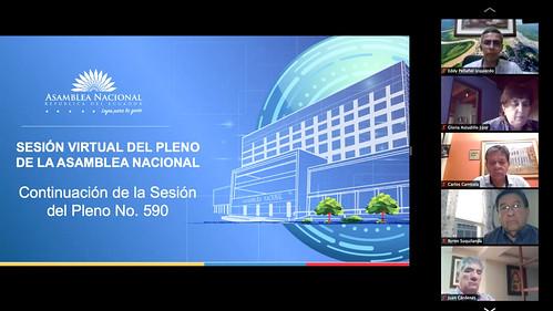 CONTINUACIÓN DE LA SESIÓN NO. 590 DEL PLENO DE LA ASAMBLEA NACIONAL. VIRTUAL. QUITO, 20 DE MAYO 2020