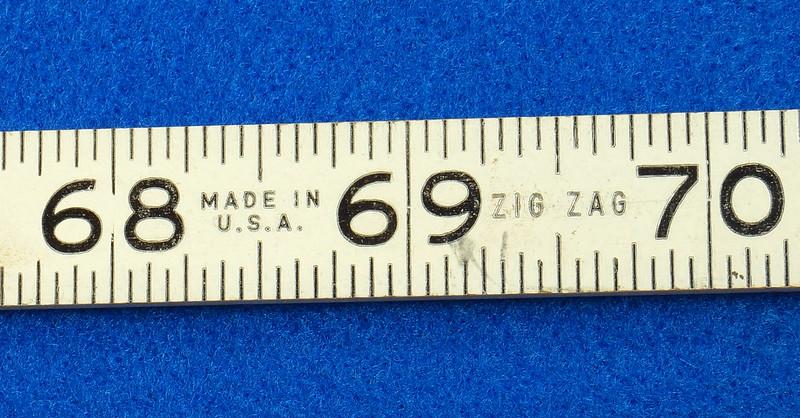 RD25457 Rare Vintage STANLEY No. 1296 Defiance Zig Zag Folding Ruler 72 inch DSC05053