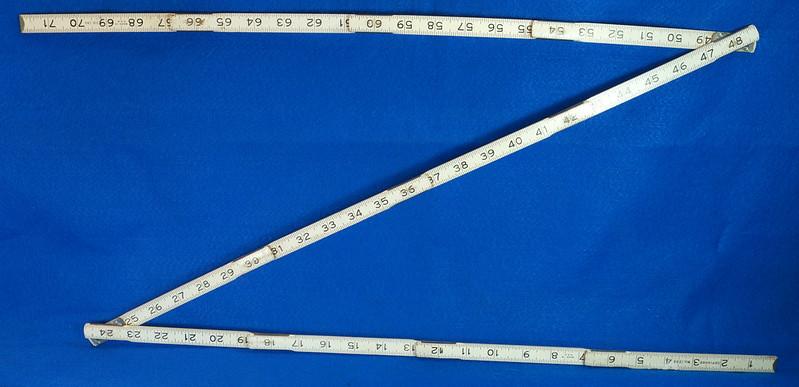 RD25457 Rare Vintage STANLEY No. 1296 Defiance Zig Zag Folding Ruler 72 inch DSC05051