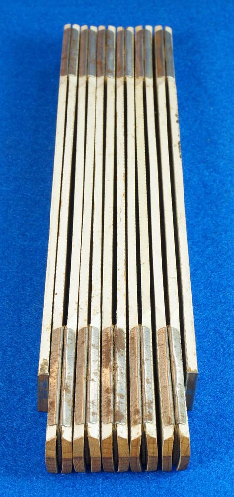 RD25457 Rare Vintage STANLEY No. 1296 Defiance Zig Zag Folding Ruler 72 inch DSC05047