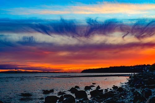 whiterock beach sunset nikon nikkor nature nationalgeographic sea scenery scene scenicsnotjustlandscapes seascape beaches sun clouds cloud tripod travel sky 50mm 50mmf18d d750 water rocks longexposure lowlight canada
