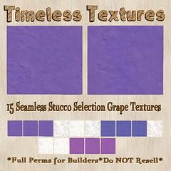 TT 15 Seamless Stucco Selection Grape Timeless Textures