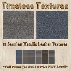 TT 12 Seamless Metallic Leather Timeless Textures