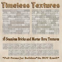 TT 18 Seamless Bricks and Mortar Ecru Timeless Textures