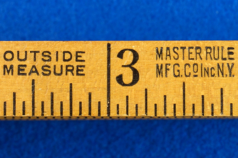 RD22097 Vintage Carpenter Master Rule Mfg. Co. Inc.  N.Y.  USA Interlox No. 106 Wood Rule 6 ft DSC05074