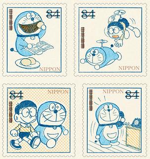 粉絲必收的《哆啦A夢》誕生50週年紀念郵票! 重現經典的原版漫畫造型~ 『ドラえもん』50周年記念切手