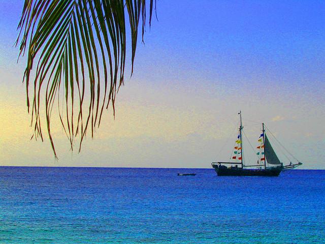 *Cozumel Sailing Ship on a Crystal Sea