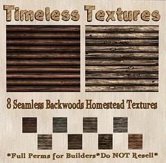 TT 8 Seamless Backwoods Homestead Timeless Textures