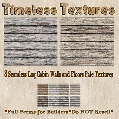 TT 8 Seamless Log Cabin Walls and Floors Pale Timeless Textures