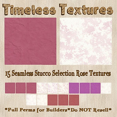 TT 15 Seamless Stucco Selection Rose Timeless Textures