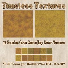 TT 12 Seamless Cargo Camouflage Desert Timeless Textures