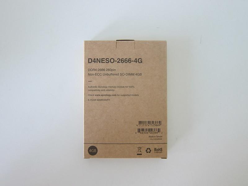 Synology RAM D4NESO-2666-4G - Box Back
