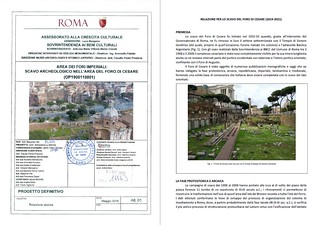 ROMA ARCHEOLOGIA e RESTAURO ARCHITETTURA 2020. AREA DEI FORI IMPERIALI: SCAVO ARCHEOLOGICO NELL'AREA DEL FORO DI CESARE - RILIEVO ARCHEOLOGICO [in Pdf]. ROMA CAPITALE / Sovrintendenza Capitolina (03/2020). S.v.,  Dott. Arch. Barbara Baldrati (2002-04).