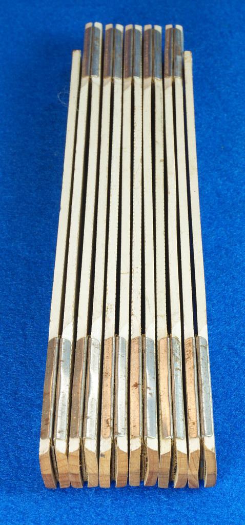 RD25457 Rare Vintage STANLEY No. 1296 Defiance Zig Zag Folding Ruler 72 inch DSC05046