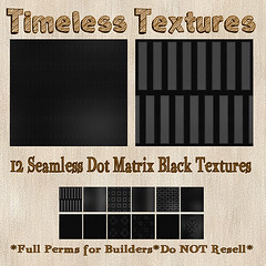 TT 12 Seamless Dot Matrix Black Timeless Textures