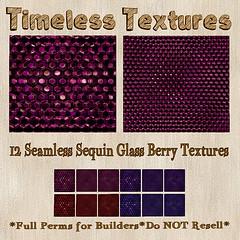 TT 12 Seamless Sequin Glass Berry Timeless Textures