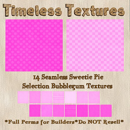 TT 14 Seamless Sweetie Pie Selection Bubblegum Timeless Textures